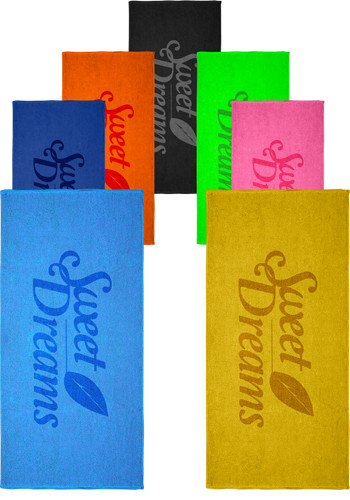 Customized Loop Terry Colors Beach Towels