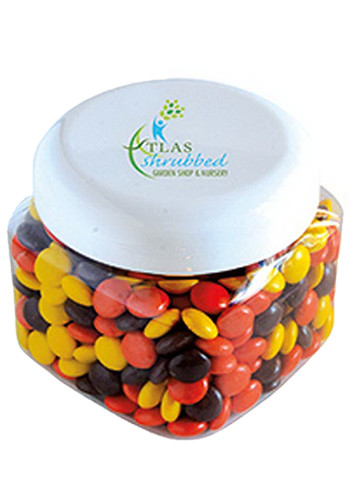 Luscious Reeces Pieces in Large Snack Canisters | MGSQC8RCP