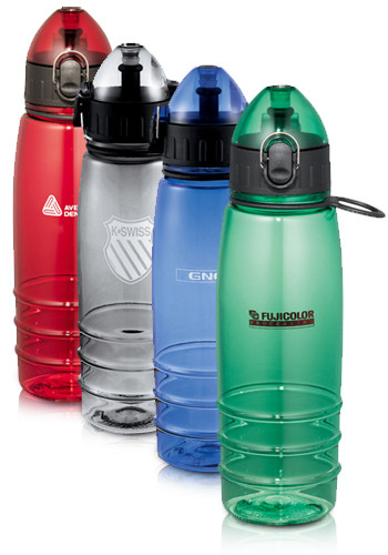 Customized 22 oz. Marathon Plastic Water Bottles