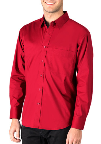 Mens Superblend Poplin Long Sleeve Untucked Shirts | BGEN7268