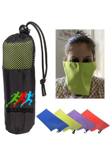 Wholesale Microfiber Quick Dry Cooling Towel-Masks In Pouch