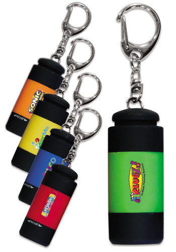 Personalized Mini Plastic LED Keychains