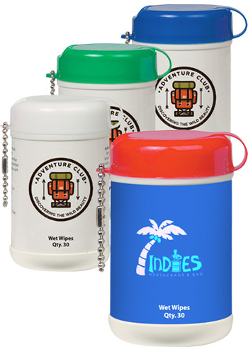 Promotional Mini Wet Wipe Canisters