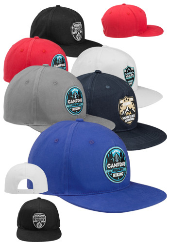 Snapback Caps with Flat Bill