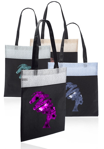 Customized Mosaic Non Woven Tote Bags