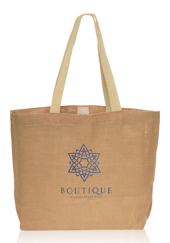 Wholesale Natural Jute Fiber Carry-On Tote Bags