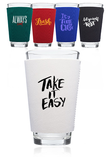 Custom Neoprene Collapsible Pint Glass Sleeve