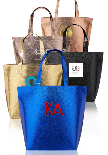 Wholesale New Castle Non-woven Metallic Tote Bags