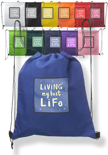 Custom Drawstring Bags  amp  Drawstring Backpacks from 49¢ - Free ... 8baac19f814a2