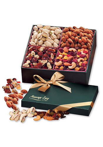 Nutritious Snack Mix Assortment in  Green Gift Box | MRGN951