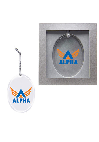 Promotional Oval Acrylic Ornaments
