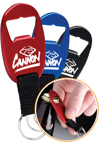 Customized Bottle Opener & Strap Keychains