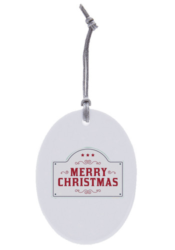 Personalized Oval Ceramic Ornaments