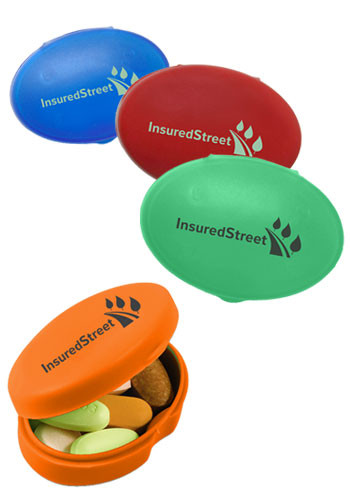 Personalized Oval Pill Boxes Em3575 Discountmugs