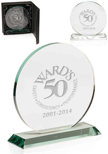 Custom Round Glass Awards