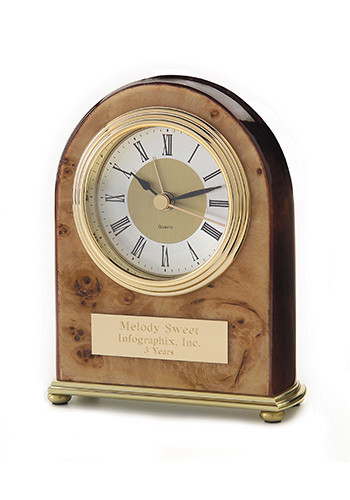 Wholesale Palermo Burlwood Clocks