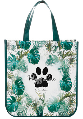 Palms Laminated Shopper Totes | LE216085