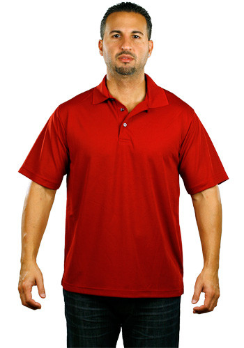 Paragon by ScreenMates Solid Mesh Polo Shirts | SM0100