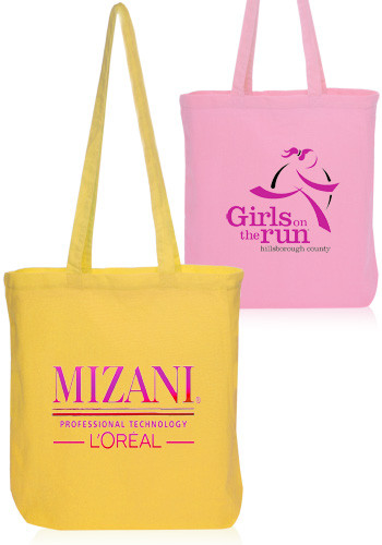 Personalized Pastel Colored Cotton Tote Bags Tot76