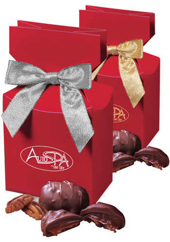 Pecan Turtles in Red Gift Box | MRRPD123