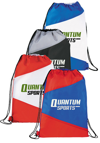 Bulk Pennant Drawstring Cinch Backpacks