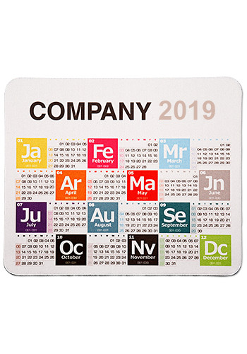 Customized Periodic Table Calendar Mouse Pads