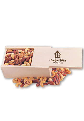 12 oz. Deluxe Mixed Nuts in Wooden Box | MRK116