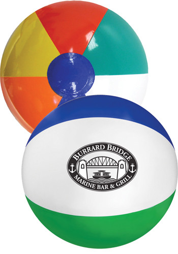16 in. Multi- Colored Beach Balls | GBMB16