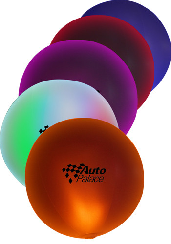 30 in. Plastic LED Inflatable Beach Balls | WCINF21