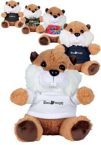 Wholesale 6 in. Beaver Plush Animals with Shirt