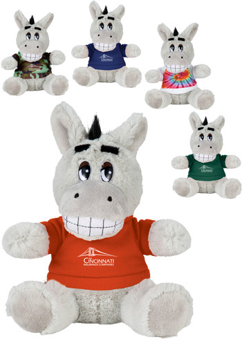 6 in. Plush Donkeys with Shirt | SM8519