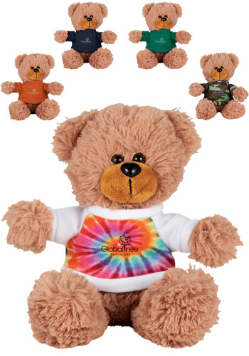 6 in. Sitting Plush Bears with Shirt | SM8510