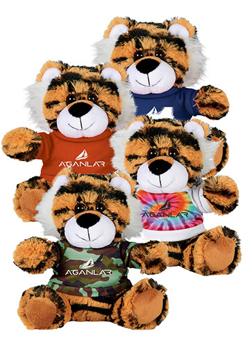 Customized 6 in. Tiger Plush Animals with Shirt