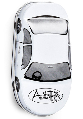 Personalized Car Shaped Tins with Peppermints