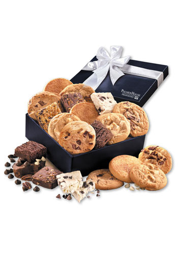 Gourmet Cookie & Brownie Assortment in Navy Gift Box | MRNV978