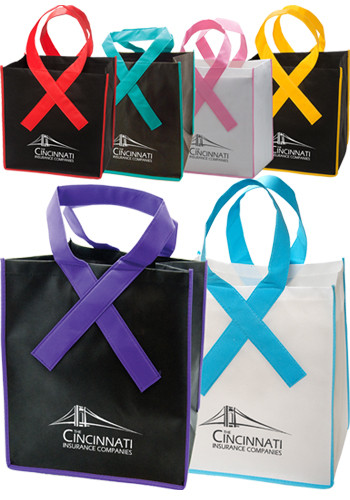 Ribbon Grocery Shopper Tote Bags | PLLT3711