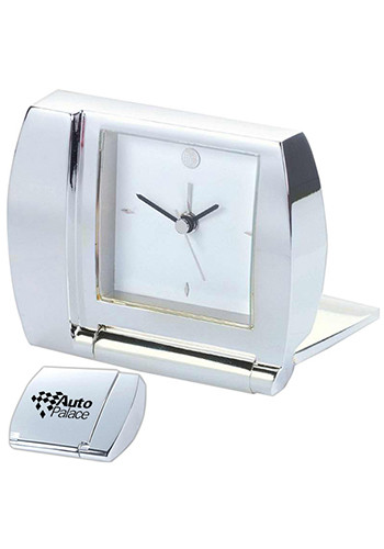 Silver Folding Alarm Desk Clocks | NOI101365