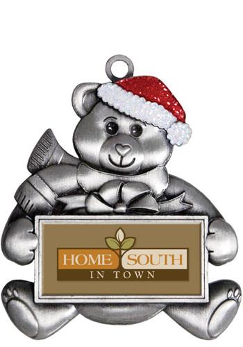 Silver Teddy Bear Holiday Ornaments | SISLXM43
