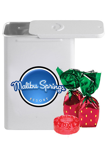 Slider Tin Filled with Strawberry Delights | CI308SDE