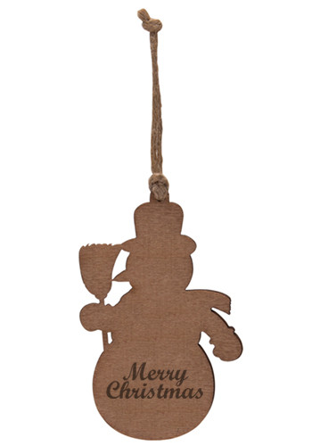Personalized Snowman Wood Ornaments