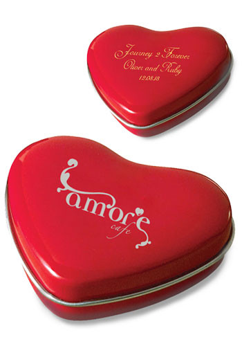Personalized Sweet Heart Tins