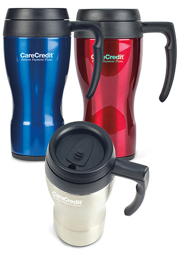 16 oz. Thermocafe Thermos Stainless Steel Travel Mugs | GL80155