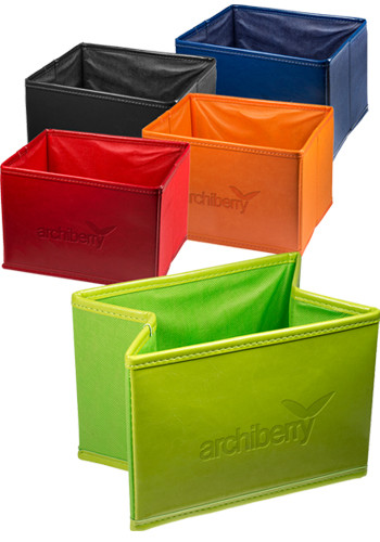 Venezia™ Leather Folding Bin |PLLG9300