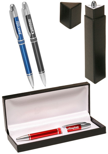 Personalized Salisbury Metal Pens Gift Set