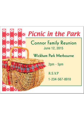 Picnic in the Park Save the Date Magnets | MGS217TT