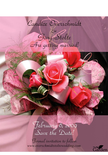 Pink Roses Bouquet Save the Date Magnets | MGS2170DD