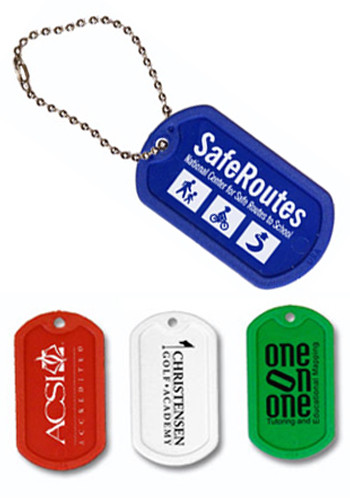 Customized Ball Chain Plastic Dog Tags