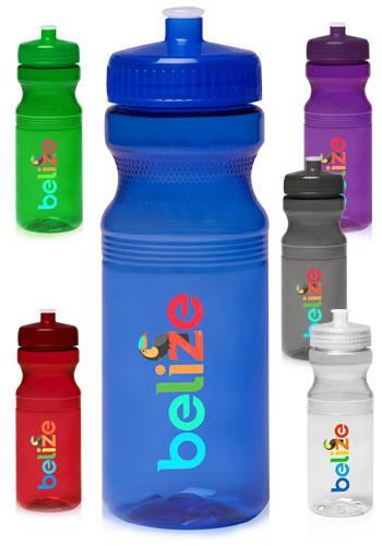 Custom 24 oz Poly Clear Bike Water Bottles WB2463 DiscountMugs