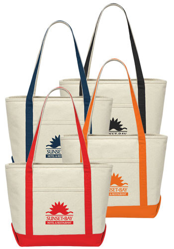 Customized Premium 18 oz Cotton Canvas Totes