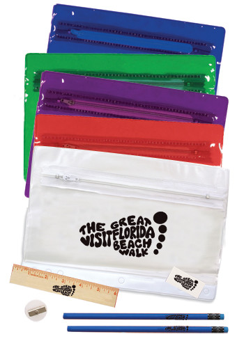 Premium Clear Vinyl School Kit Pouches | AK05110
